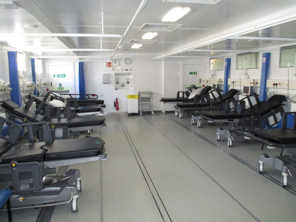 Inside the Q-bital ward at Southend Hospital