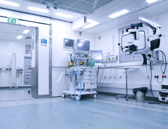 Interior shot of mobile operating theatre