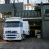 Mobile healthcare vehicle disembarks ship